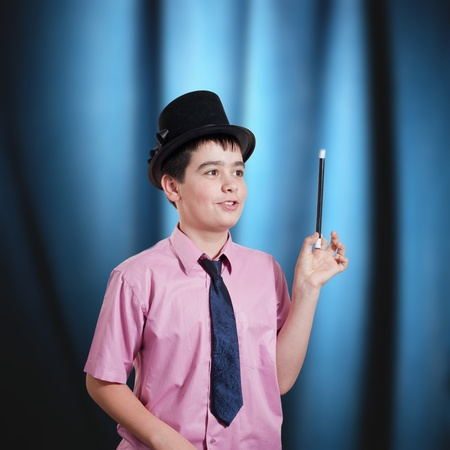 boy magician in a position Stock Photo