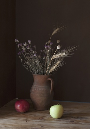 Still life with huge bunch of autumn flowers Stock Photo - 12021826
