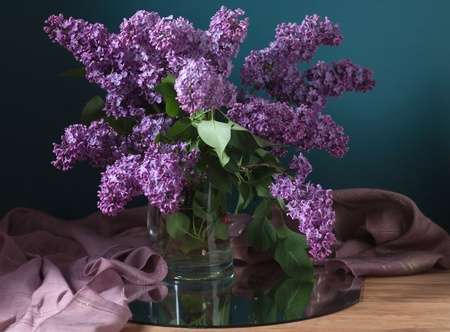 still life with lilac flowers Stock Photo - 13549382