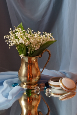 still life with flowers of lily photo
