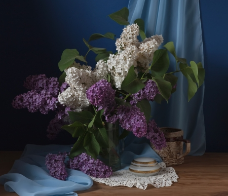 stillife: still life with lilac flowers