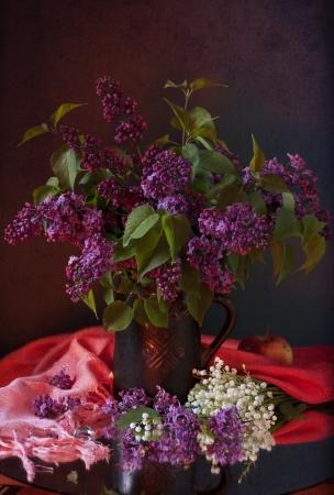 stillife: still life with lilac flowers