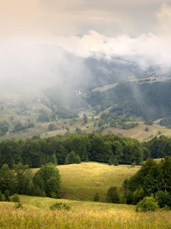 Morning in Carpathians Stock Photo