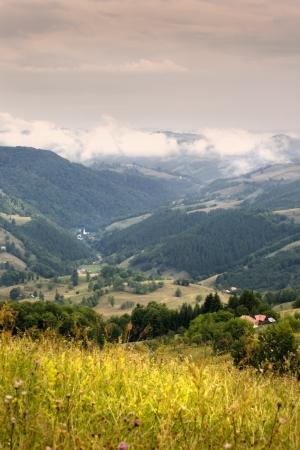 Morning in Carpathians Stock Photo