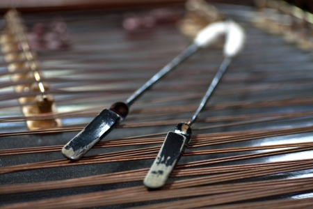 englishman: Close up detail of a Hammered Dulcimer Stock Photo