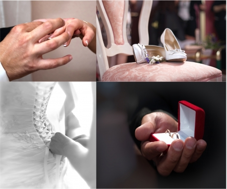 Wedding collage photo