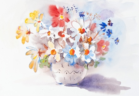 thankful: Watercolor painting of the beautiful flowers.