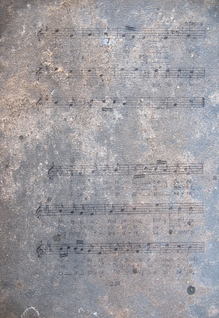 Old sheet music notes Stock Photo