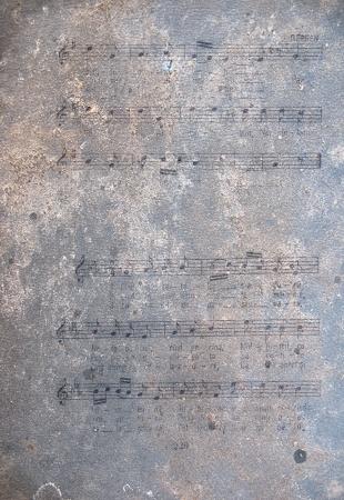 Oude bladmuziek noten Stockfoto