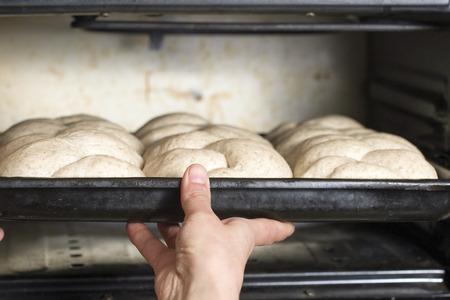 Baker preparing bread Stock Photo