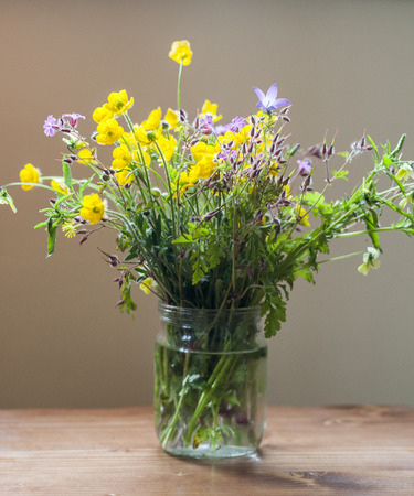 oxeye: Still life with spring bouquet