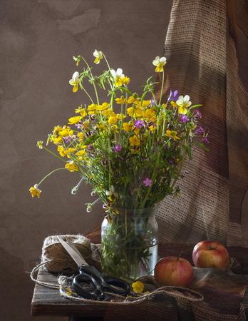 Beautiful bouquet of wild flowers photo