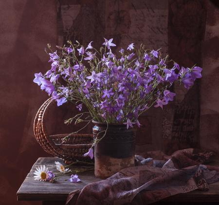 Beautiful bouquet of bright field flowers photo