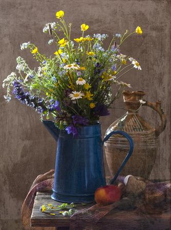 Beautiful bouquet of wild flowers Stock Photo