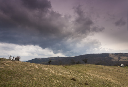 hdr: dramatic HDR image with mountainlandscape Stock Photo