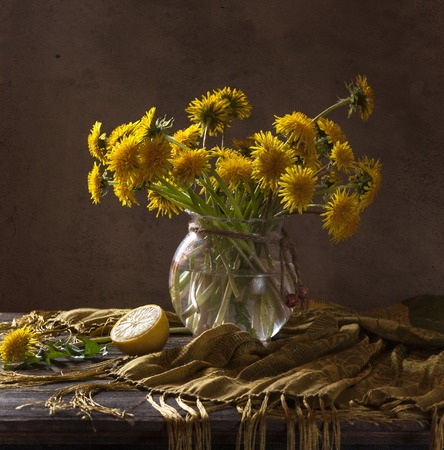 Still life with wild flowers photo