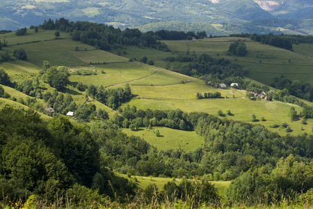 Summer landscape in mountains, Romania Stock Photo