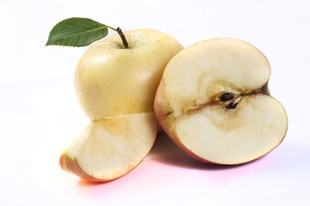 whitw: apple isolated on whitw backgraund Stock Photo