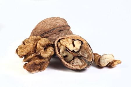 walnuts isolated on white backgraund