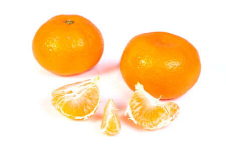 clementines: Fresh clementine isolated on whita background