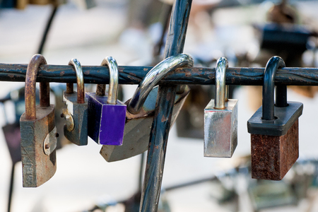 Love locks at the city park.