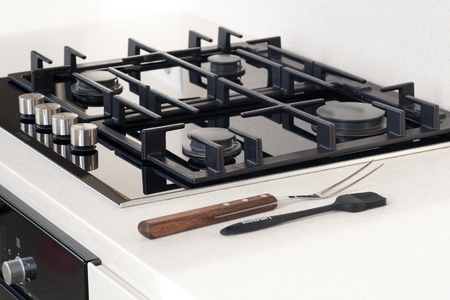 Detai of gas hob
