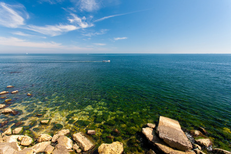 Black sea shore in Contanza, Romania Stock Photo
