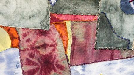 abstract pattern on silk nodosa batik Banque d'images - 104786004