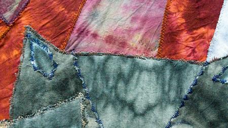 abstract pattern on silk nodosa batik Banque d'images - 106342390