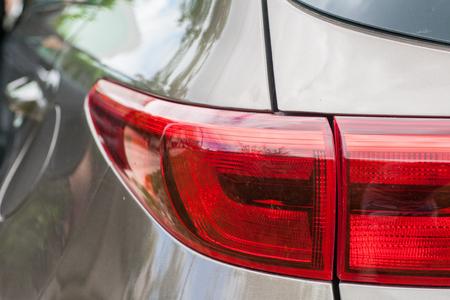Modern car headlights. Modern luxury car.selective focus