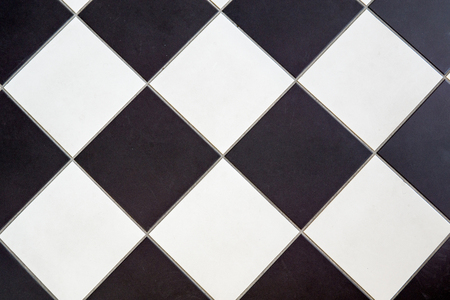 ceramic floor tile black and white cross checker board pattern background