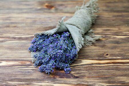 Lavender in linen sack
