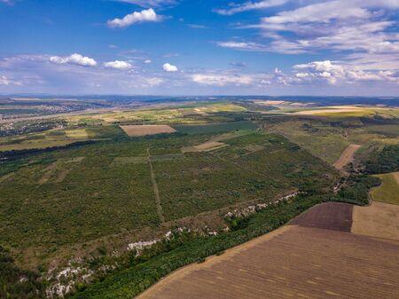 Aerial view of farm lands in Moldova republic of Zdjęcie Seryjne