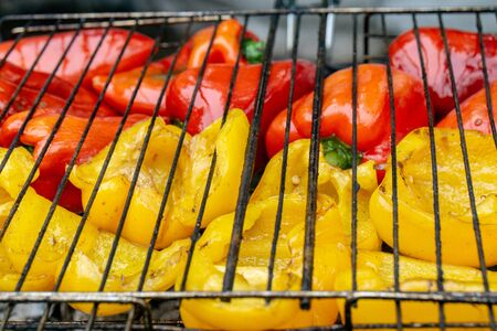 Delicious vegetable on grill. Natural food.
