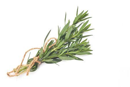 tied fresh rosemary on a white background, aromat herb Standard-Bild - 150457892