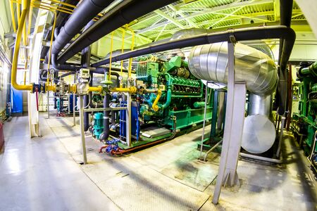 Engine room of a thermal power station.