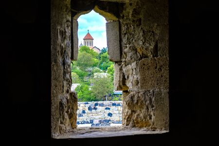 View from the window of the fortress on the Georgian church.