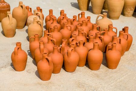 Traditional Mediterranean jugs.