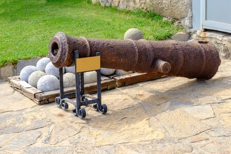 Artillery guns of the 17th century.