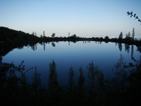 night dusk: night lake Stock Photo