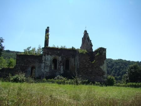 ukraine: Chervonohorod Castle ruins, Ukraine Stock Photo