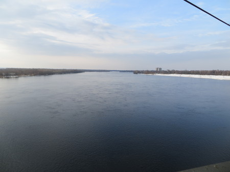 the dnieper: River Dnieper on spring