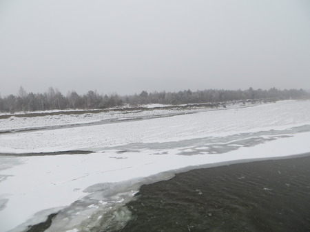 mounting: mounting river in winter