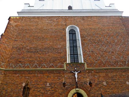fasade: Fasade of St Bartholomew Church, Drohobych, Ukraine Stock Photo