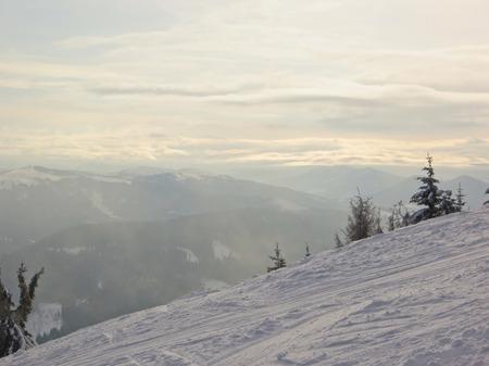 wintery day: Winter in Carpathians Stock Photo