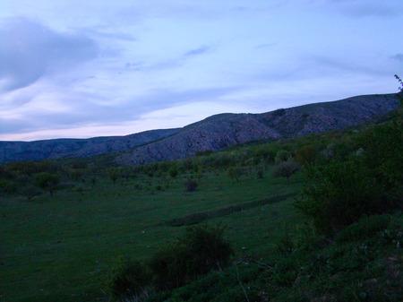 crimean: Sunset in crimean mountains