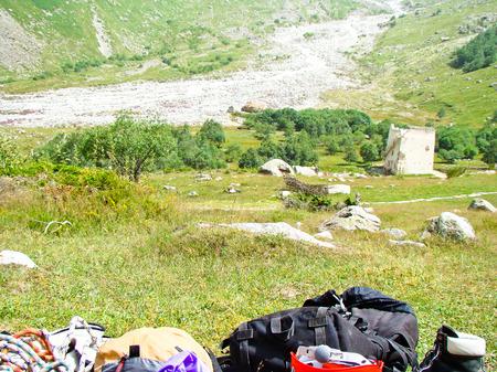 mountaineering: mountaineering equipment Stock Photo