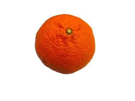 sap: Mandarin isolated on white