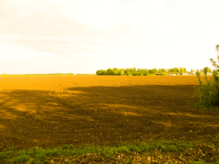 ploughed field 스톡 콘텐츠