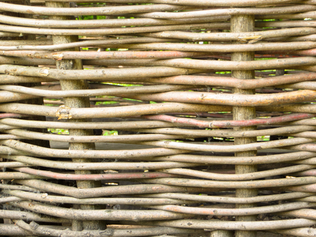 osier: Ukrainian traditional wicker fence Stock Photo